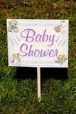 Signe de yard de fête de naissance Photos libres de droits