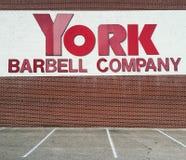 Signe de York Barbell Company Images libres de droits