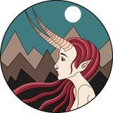 Signe de zodiak de Capricorne images stock