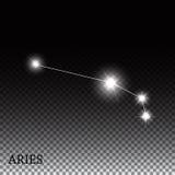 Signe de zodiaque de Bélier des belles étoiles lumineuses Image stock