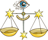 Signe de zodiaque de Balance illustration de vecteur