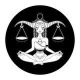 Signe de zodiaque de Balance, symbole d'horoscope, illustration de vecteur illustration libre de droits