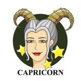 Signe de zodiaque de Capricorne Symbole astrologique Images libres de droits