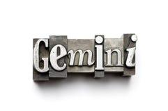 Signe de zodiaque de Gémeaux Photo libre de droits