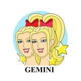 Signe de zodiaque de Gémeaux Symbole astrologique Photo libre de droits