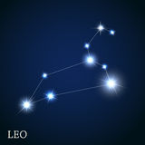 Signe de zodiaque de Lion des belles étoiles lumineuses illustration de vecteur