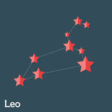 Signe de zodiaque de Lion des belles étoiles lumineuses Photos libres de droits