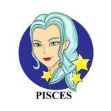 Signe de zodiaque de Poissons Symbole astrologique Photos libres de droits