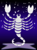 Signe de zodiaque de Scorpion Photo libre de droits