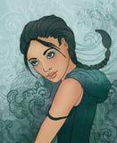 Signe de zodiaque de Scorpion en tant que belle fille illustration libre de droits