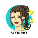 Signe de zodiaque de Scorpion Symbole astrologique Image libre de droits