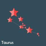 Signe de zodiaque de Taureau des belles étoiles lumineuses illustration stock