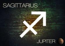 Signe de zodiaque - Sagittaire Photos libres de droits
