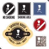 Signe de zone fumeur. Signe non-fumeurs. Image libre de droits