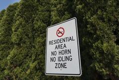 Signe de zone résidentielle Images stock