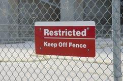 Signe de zone restreinte Photo libre de droits