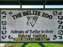 Signe de zoo de Belize image libre de droits