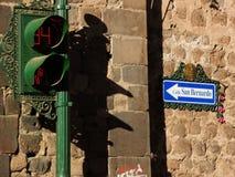 Signe dedans Cusco, Pérou image libre de droits
