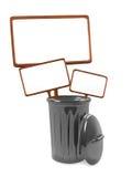 Signe dedans les déchets Images stock