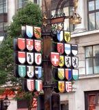 Signe dedans Londres Image libre de droits