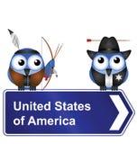 Signe des Etats-Unis d'Amérique Images libres de droits
