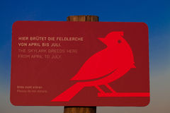 Signe des oiseaux d'élevage Photos libres de droits