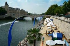 Signe des plages 2014 de Paris Photo libre de droits