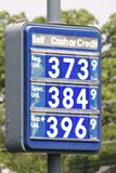Signe des prix d'essence photo stock