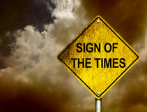 Signe des temps Photographie stock libre de droits