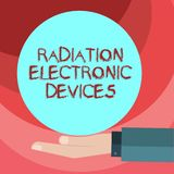 Signe des textes montrant des appareils électroniques de rayonnement Radiofréquence conceptuelle de photo émise par des appareils illustration stock