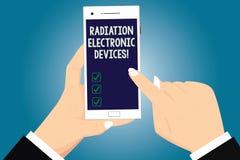 Signe des textes montrant des appareils électroniques de rayonnement Radiofréquence conceptuelle de photo émise par des appareils illustration libre de droits