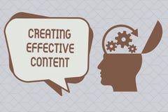 Signe des textes montrant créant le contenu efficace Convivial instructif de données de valeur conceptuelles de photo illustration de vecteur