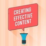 Signe des textes montrant créant le contenu efficace Convivial instructif de données de valeur conceptuelles de photo illustration libre de droits