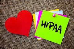 Signe des textes montrant Hipaa Choses conceptuelles d'idées de loi de soins de santé de Loi de portabilité et de responsabilité  Photo stock