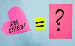 Signe des textes montrant Job Search La photo conceptuelle un acte de la personne pour trouver le travail adapté à son papier de  illustration libre de droits