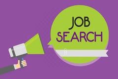 Signe des textes montrant Job Search Photo conceptuelle un acte de la personne pour trouver le travail adapté à son homme de prof illustration libre de droits