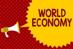Signe des textes montrant l'économie mondiale Les marchés internationaux mondiaux globaux de photo conceptuelle commercent le lou photo stock