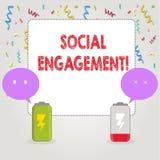 Signe des textes montrant l'engagement social Le courrier conceptuel de photo obtient de hautes annonces SEO Advertising Marketin illustration de vecteur