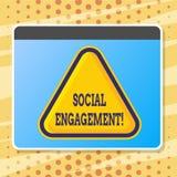 Signe des textes montrant l'engagement social Le courrier conceptuel de photo obtient de hautes annonces SEO Advertising Marketin illustration stock