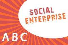 Signe des textes montrant l'entreprise sociale Affaires conceptuelles de photo qui gagnent l'argent d'une manière socialement res illustration de vecteur