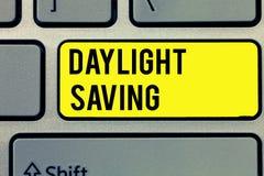 Signe des textes montrant l'heure d'été Storage technologys conceptuelles de photo qui peuvent être employées pour protéger des d illustration libre de droits