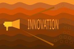 Signe des textes montrant l'innovation Différent créatif de photo de nouveau de méthode produit conceptuel d'idée non connu avant illustration stock
