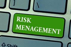 Signe des textes montrant la gestion des risques Évaluation conceptuelle de photo des risques ou des problèmes financiers avec de photo stock