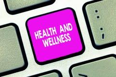 Signe des textes montrant la santé et le bien-être État conceptuel de photo de bien-être physique, mental et social complet photographie stock libre de droits