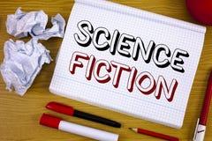 Signe des textes montrant la science-fiction Aventures fantastiques futuristes de photo d'imagination de genre conceptuel de dive images stock