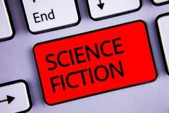 Signe des textes montrant la science-fiction Clé rouge b de photo d'imagination de divertissement de genre de clavier fantastique photographie stock