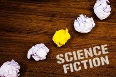 Signe des textes montrant la science-fiction Wor fantastique futuriste de concepts d'idées d'aventures de photo d'imagination de  photo libre de droits
