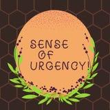 Signe des textes montrant la sensation d'urgence Première priorité ou quelque chose de photo conceptuelle d'être rapidement faite illustration stock