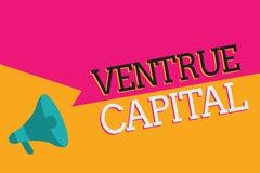 Signe des textes montrant le capital de Ventrue Le financement conceptuel de photo a fourni par des entreprises à la petite parti illustration stock