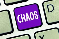 Signe des textes montrant le chaos Désordre complet de photo conceptuelle et destruction répandue de grande confusion images stock